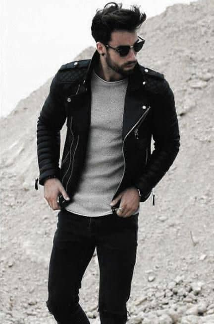 leather jacket mens leather jacket outfits style
