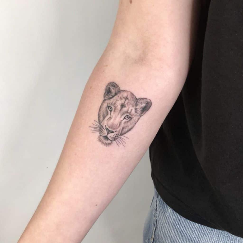 Black Lioness Tattoo