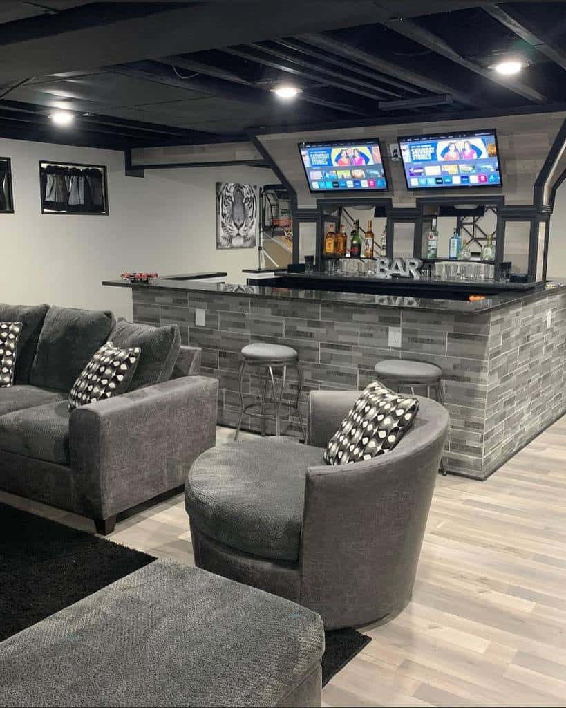 black low basement ceiling ideas ashley_therealtor