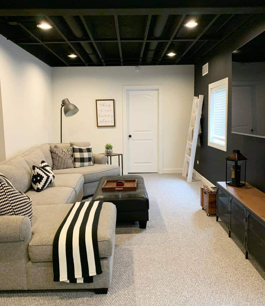 black low basement ceiling ideas ashleymdesigns
