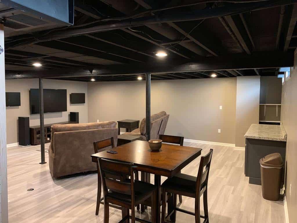 black low basement ceiling ideas cambridge_cr