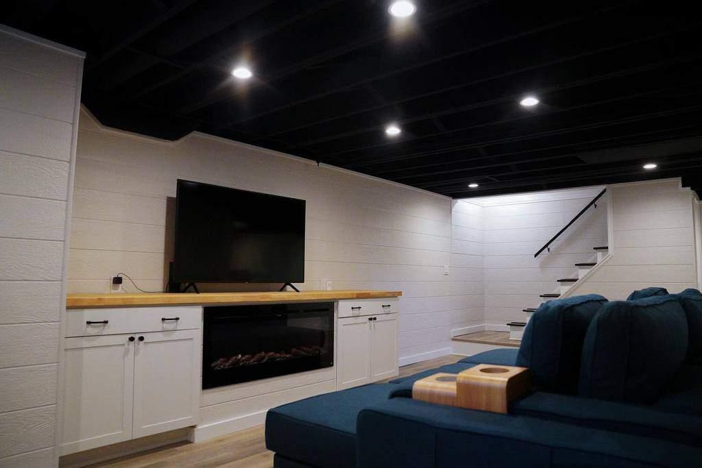 black low basement ceiling ideas kvelldesign_buildllc