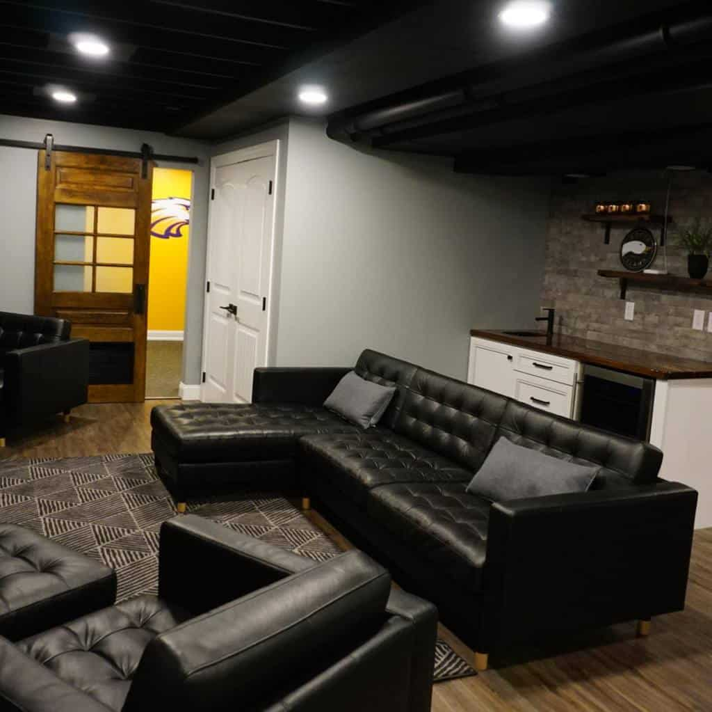 black low basement ceiling ideas nhdconstructiondesign