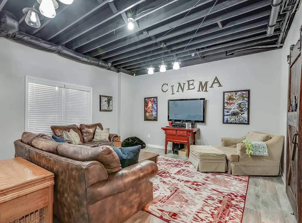 black low basement ceiling ideas sabrinasamuelphotography