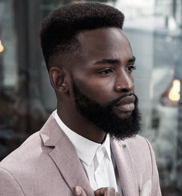 Black Male With Medium And Short Beard Style