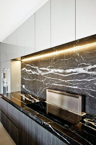 Black Marble Ideas Stone Backsplash