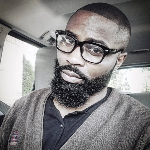 Black Men Beard Style Ideas With Medium Length