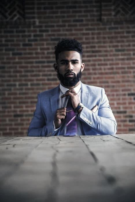 Black Men Classy Beard Style Ideas