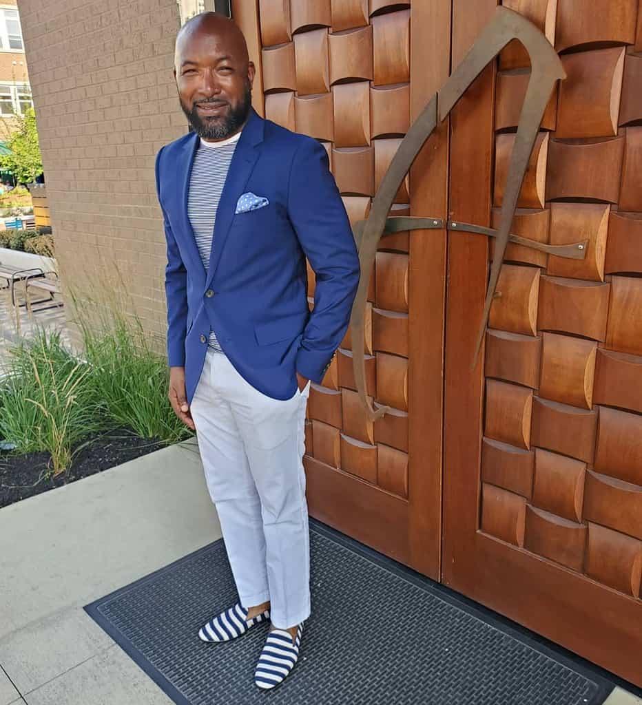 Black Men Preppy Nautical Fashion