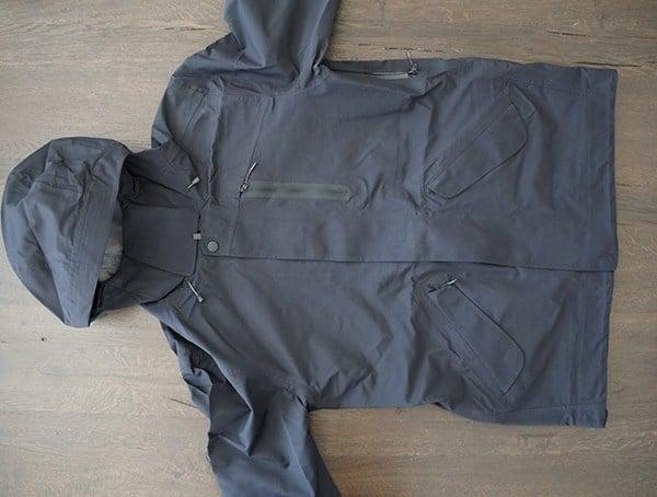 Black Mens M 51 3 Layer Fishtail Jacket Front