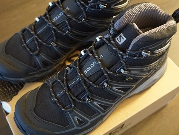 Black Mens Salomon X Ultra Mid 2 Spikes Gtx Hiking Shoes