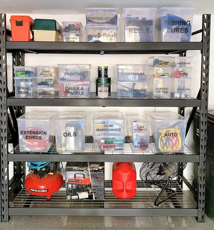 Black Metal Clear Container Garage Shelves Neatfreakoc