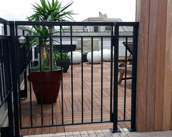 Black Metal Deck Gate Home Ideas