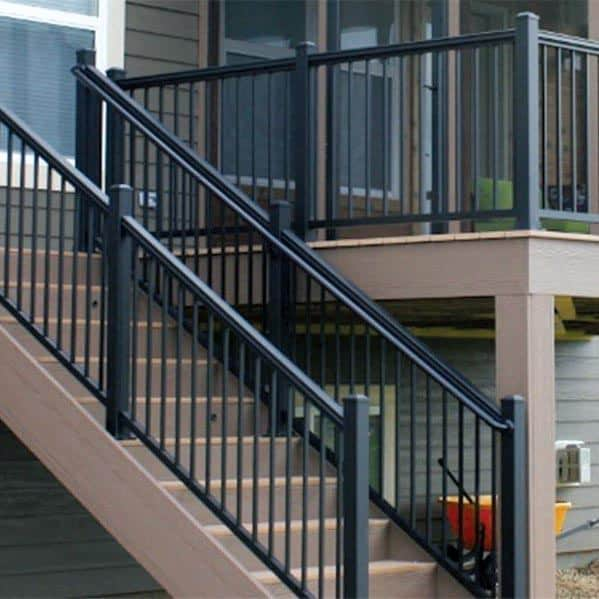 Black Metal Deck Railing Ideas