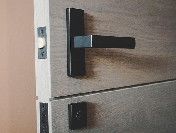 Black Metal Door Interior Hardware New American Home 2019