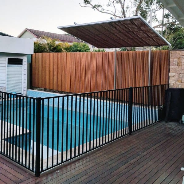Black Metal Ideas For Pool Fence