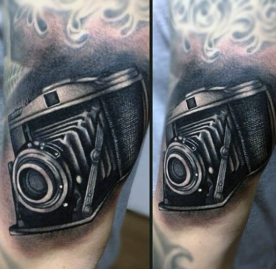 Black Millimeter Camera Male Forearms