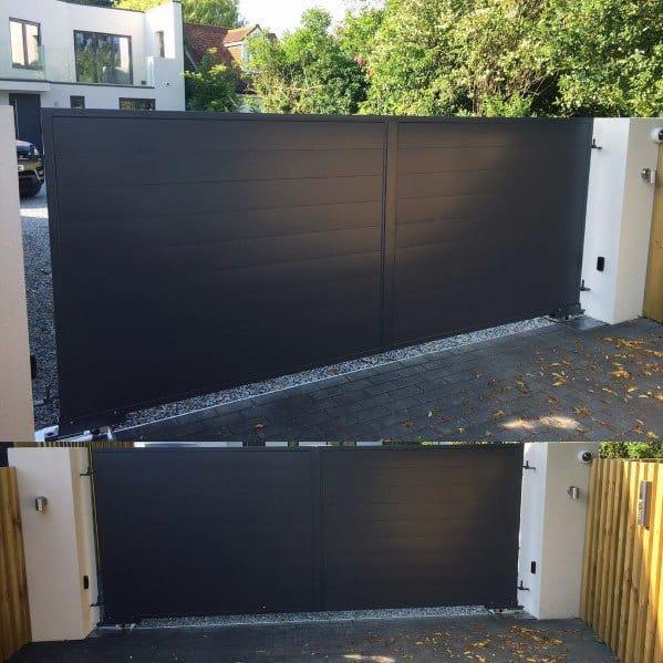 Black Modern Driveway Gate Ideas