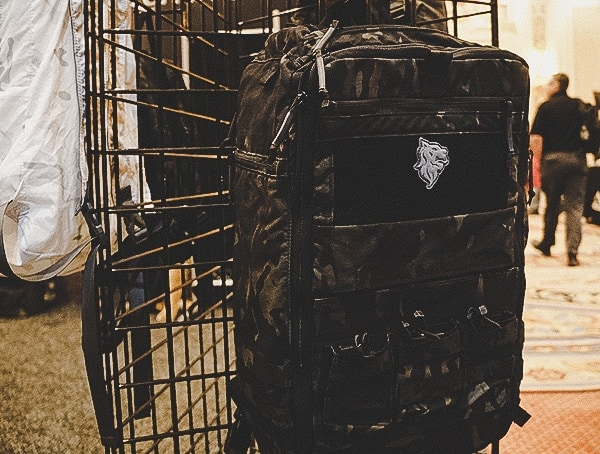 Black Multicam Backpack With Built In Mag Pouches In Front