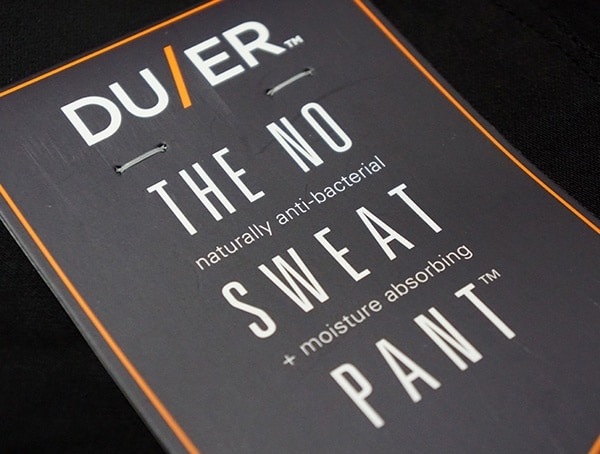 Black No Sweat Mens Duer Pants