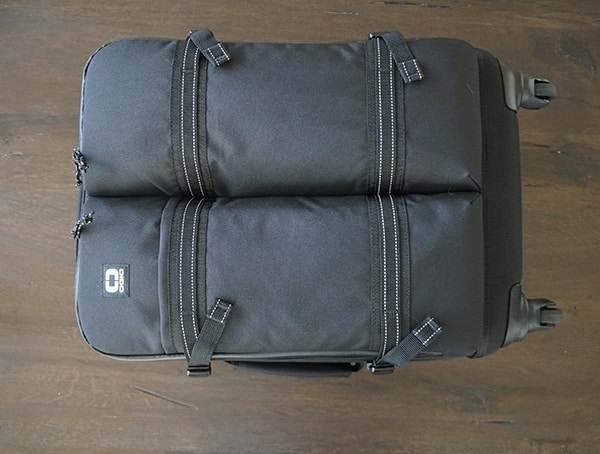 Black Ogio Alpha Convoy 522s Travel Bag Front