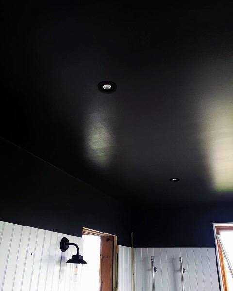 Black Painted Bathroom Ceiling Ideas