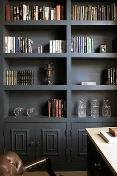 Black Painted Bookshelf Ideas