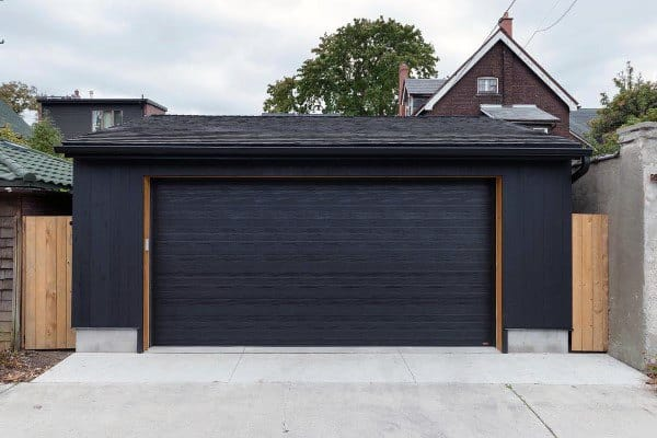 Black Painted Detached Garage Ideas
