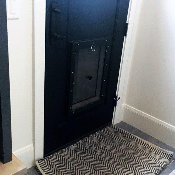 Black Painted Doggy Door