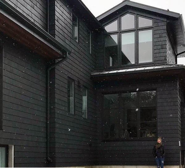Black Painted Ideas For House Siding Exterior