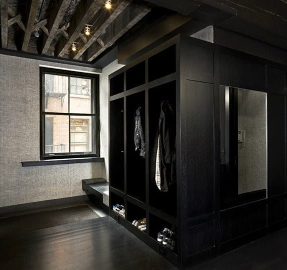Black Painted Modern Mudroom Ideas