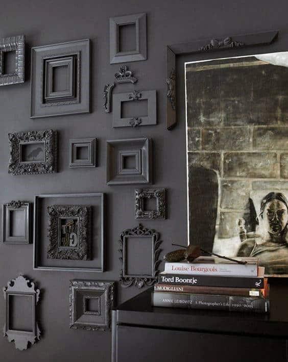 Black Painted Picture Frames Cool Man Cave Decor