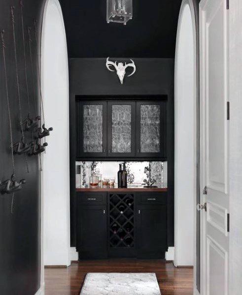 Black Painted Wet Bar Ideas