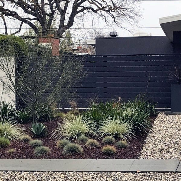 Black Painted Wood Ideas For Modern Fence