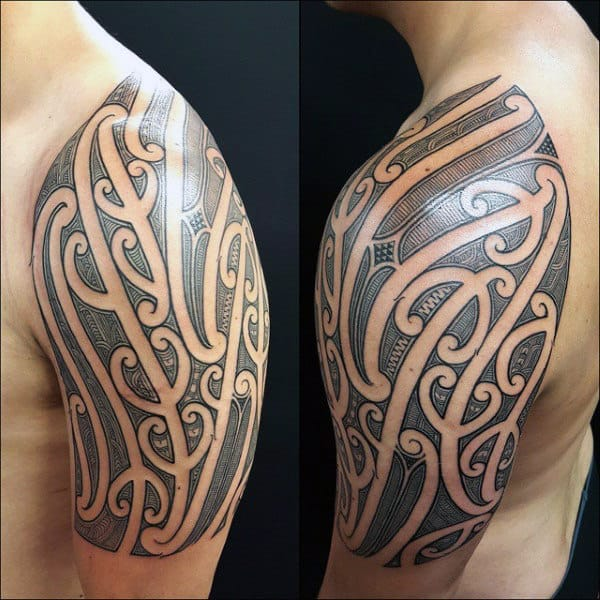 Black Quarter Sleeve Tattoo For Men