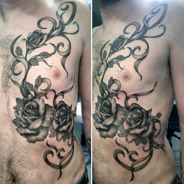 80 Black Rose Tattoo Designs For Men