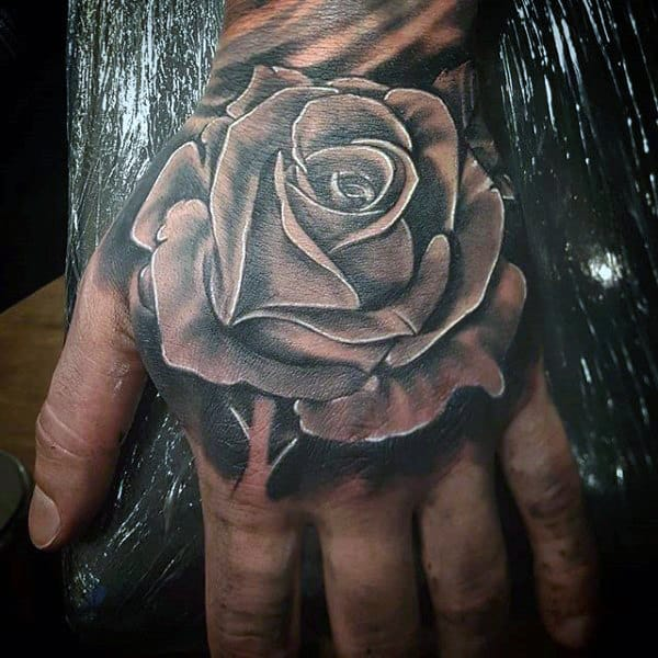 nextluxury hand 1 black and grey rose tattoos