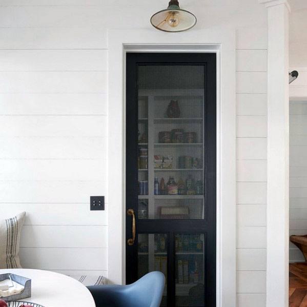 Black Screen Luxury Kitchen Pantry Door