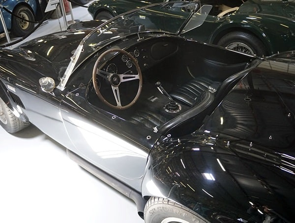 Black Shelby Cobra Interior