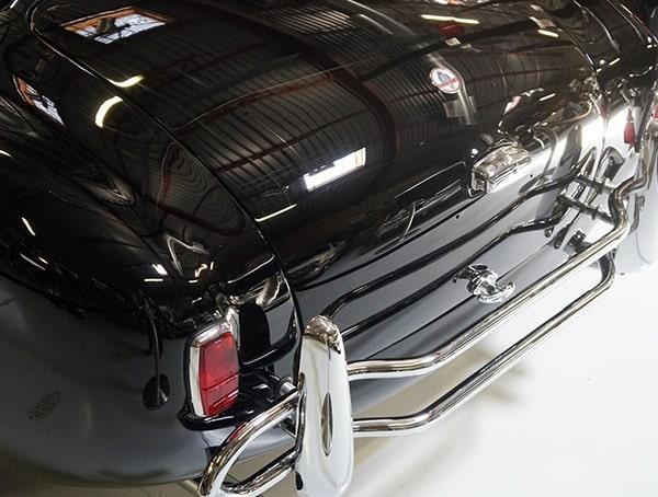 Black Shelby Cobra With Chrome Metal Bumper