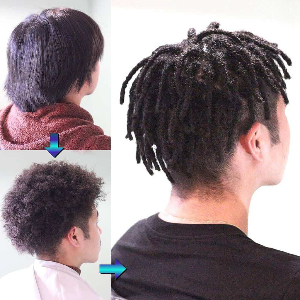 Black Short Dread Hair Cut