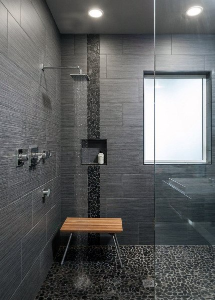 pebble tile bathroom floor tile ideas