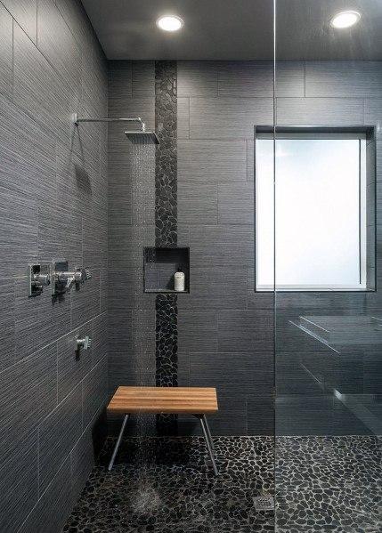 Black Shower Floor Tile Inspiration