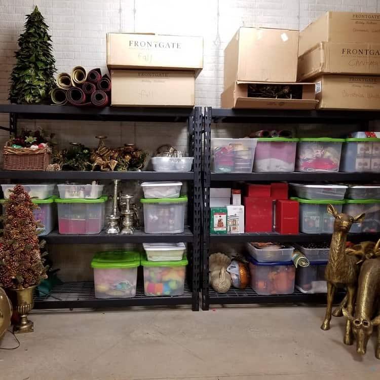 Black Simple Shelf Basement Storage