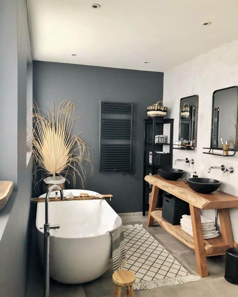 Black Small Bathroom Paint Ideas Kirsterieur