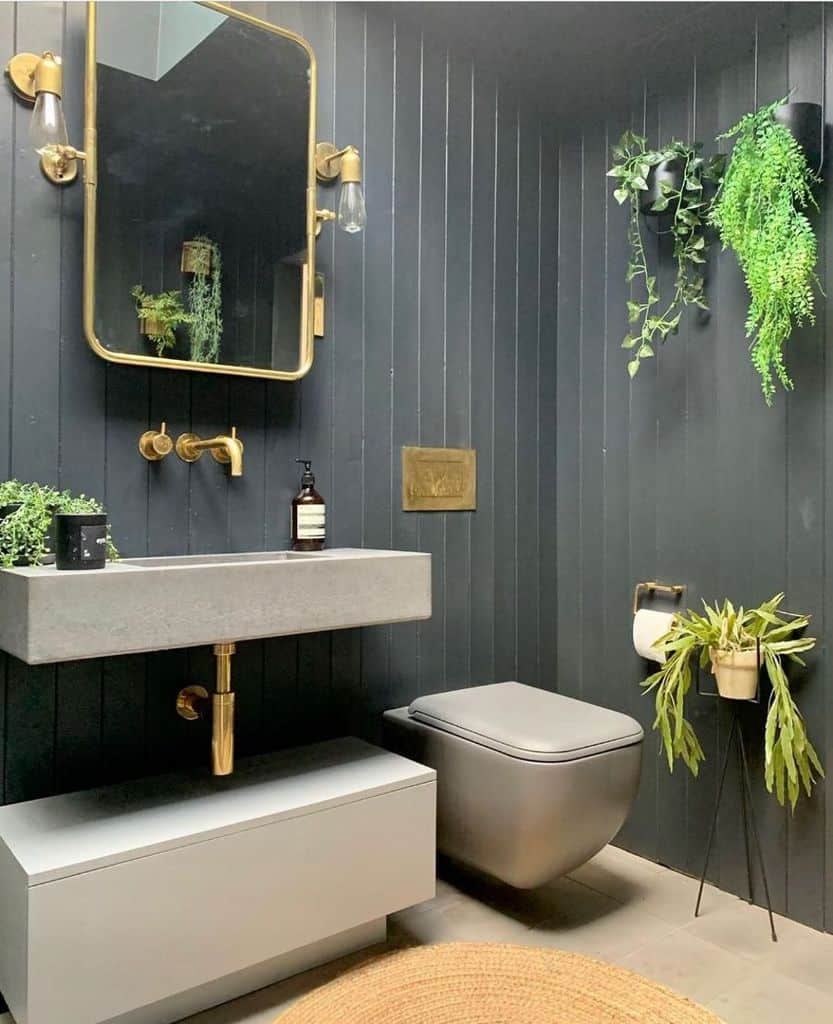 Black Small Bathroom Paint Ideas Placefortyeight
