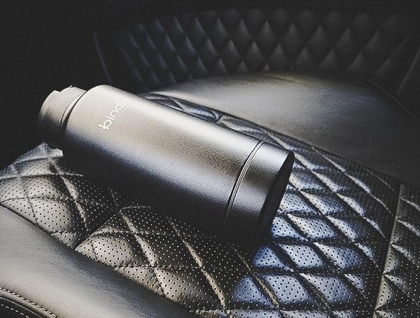 Black Stainless Steel Bindle Bottle In Car