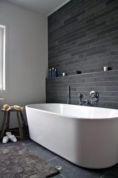 Black Subway Tile Bathtub Cool Bathrooms Ideas
