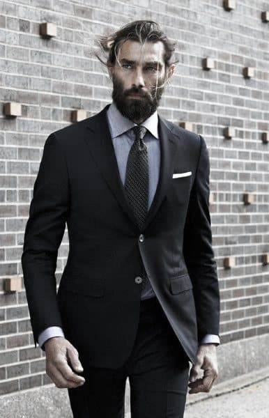 Black Suit Male Style Professional Looks