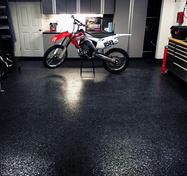 Black Texturized Garage Floor Covering